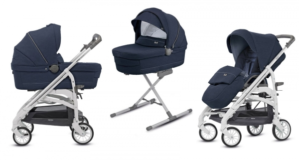 Коляска 2 в 1 Inglesina Trilogy System Imperial Blue/City White